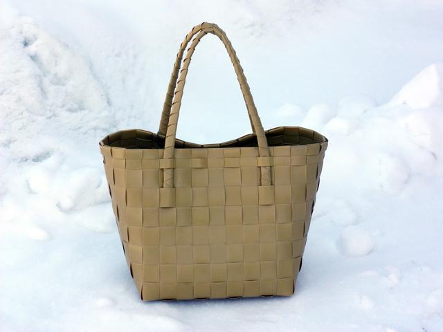 Paris senap - flätad väska