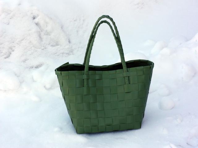 Paris guacamole - flätad väska