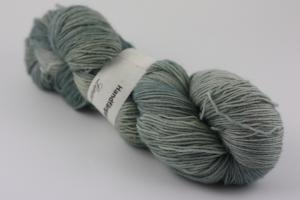 Silver - handfärgat sockgarn 100g