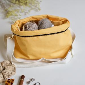 Golden yellow - Plystre crossbody pouch