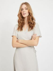 VILOVIE S/S WRAP MIDI DRESS/SU - NOOS