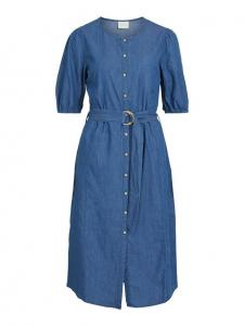 VIFANZI S/S MIDI DENIM DRESS/PB