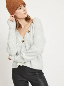 VINORA L/S BUTTON KNIT CARDIGAN/PB