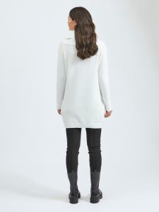 VIFLINKA FOLD NECK L/S KNIT DRESS/SU