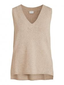 VIRIL KNIT RIB V-NECK S/L VEST - NOOS