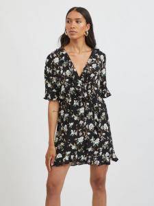 VILANA DITSY S/S FLOUNCE WRAP DRESS/KA