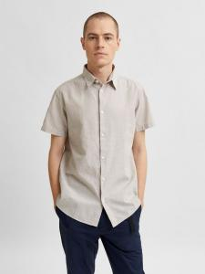 SLHREGNEW-LINEN SHIRT SS CLASSIC W