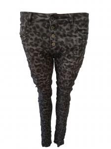 Leopardmönstrad byxa lätt baggy