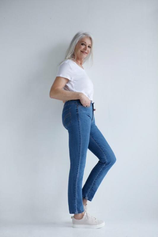 Heidi denim jeans mellanblå
