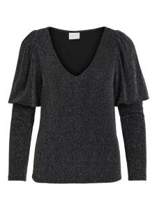 VISHINNI GLITTER V-NECK L/S TOP