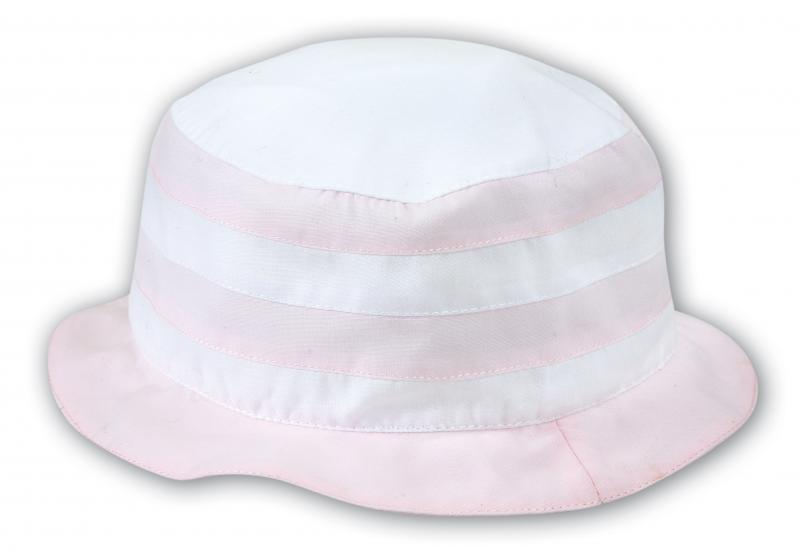 Sommarhatt vit och rosa