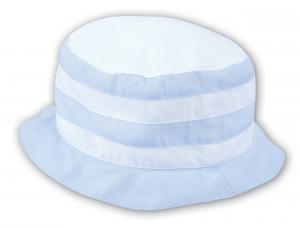 Sommarhatt vit och ljusblå
