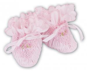 Smockade babytossor - rosa