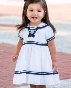 Sjömansklänning Hilma - blå-vit