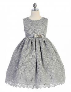 Festklänning Katarina - silvergrå