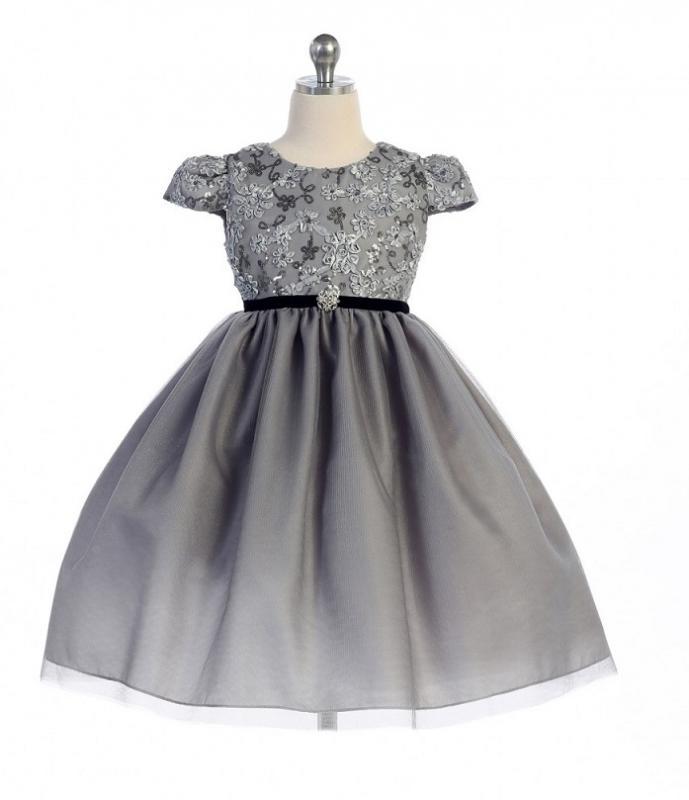 Silvergrå festklänning Mila