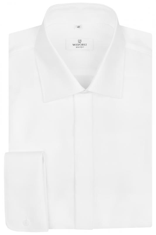 Vit slimmad smokingskjorta 66cm ärm