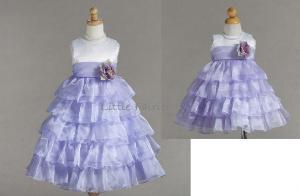 a2ca1bd365a3 Näbbklänning Henrietta - lila/vit