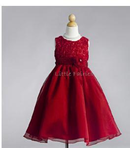 Näbbklänning Emma - röd