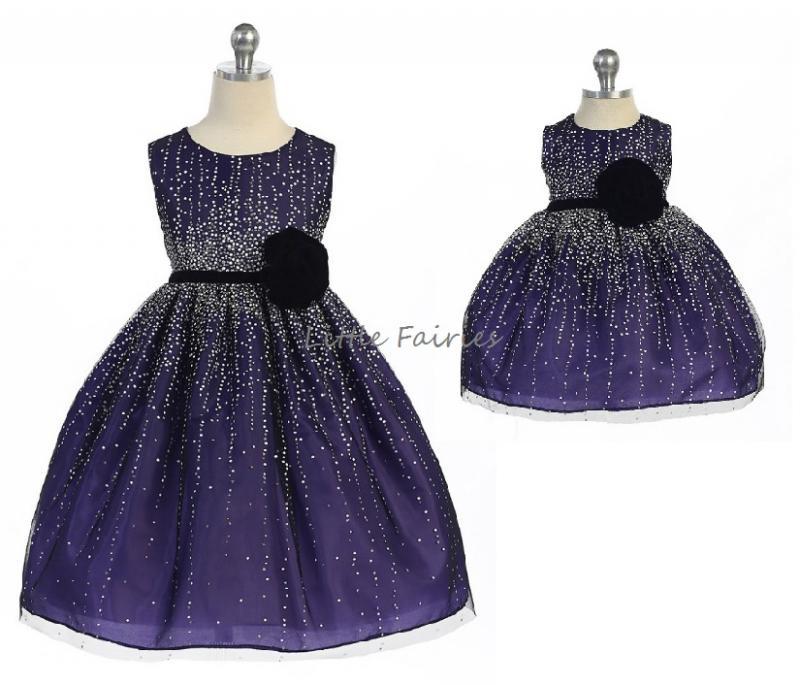 Prinsessklänning Evangelina - mörklila