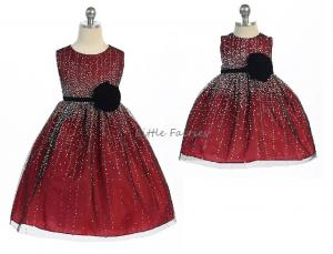 Prinsessklänning Evangelina - röd