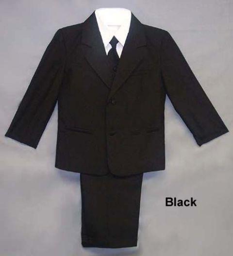 Klassisk svart barnkostym till små pojkar