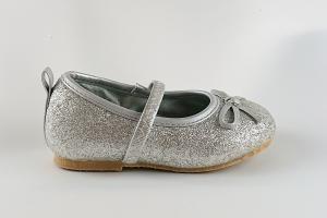 Ballerinaskor silver glitter