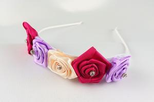 Diadem 5 blommor - multifärg
