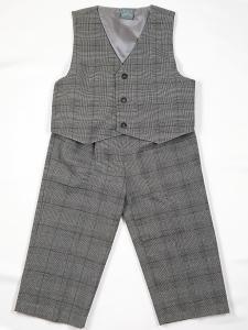 Babykostym Hampus väst och byxa - grå