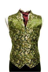 Väst sidenbrokad - grön