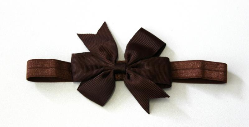 Hårband Rosett - brun