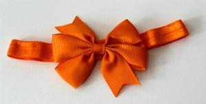 Hårband Rosett - orange