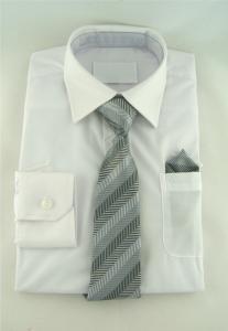 Finskjorta - vit med slips och näsduk