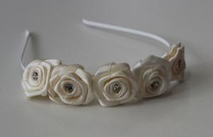 Diadem 5 blommor - ivory