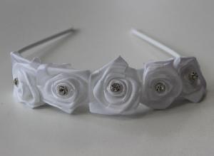 Diadem 5 blommor - kritvit