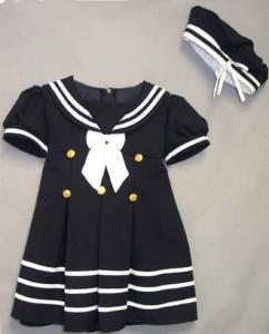 Mörkblå sjömansklänning