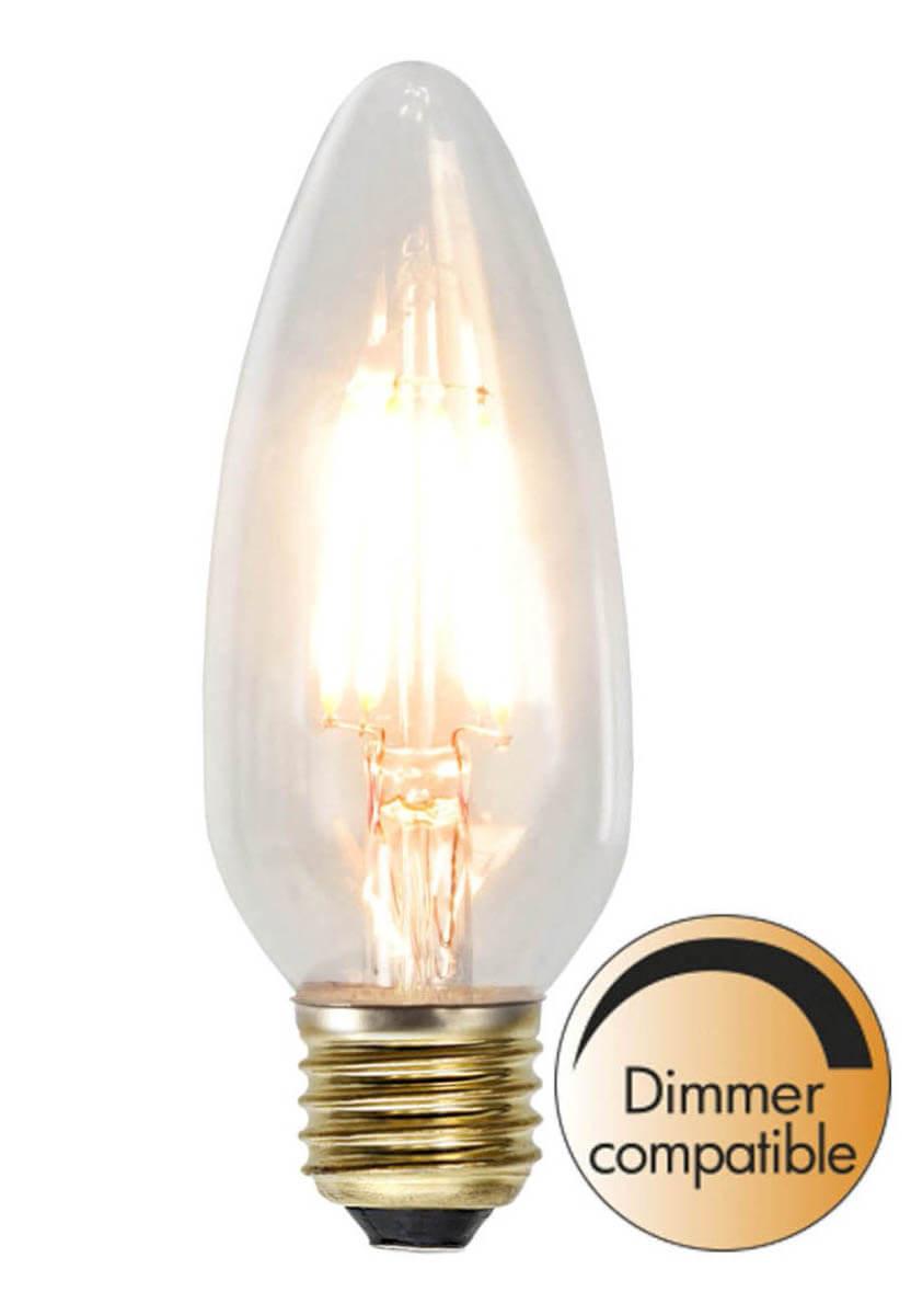 E27 SoftGlow Dimbar Kronljus 3.5W 2200K 230lm LED Lampa