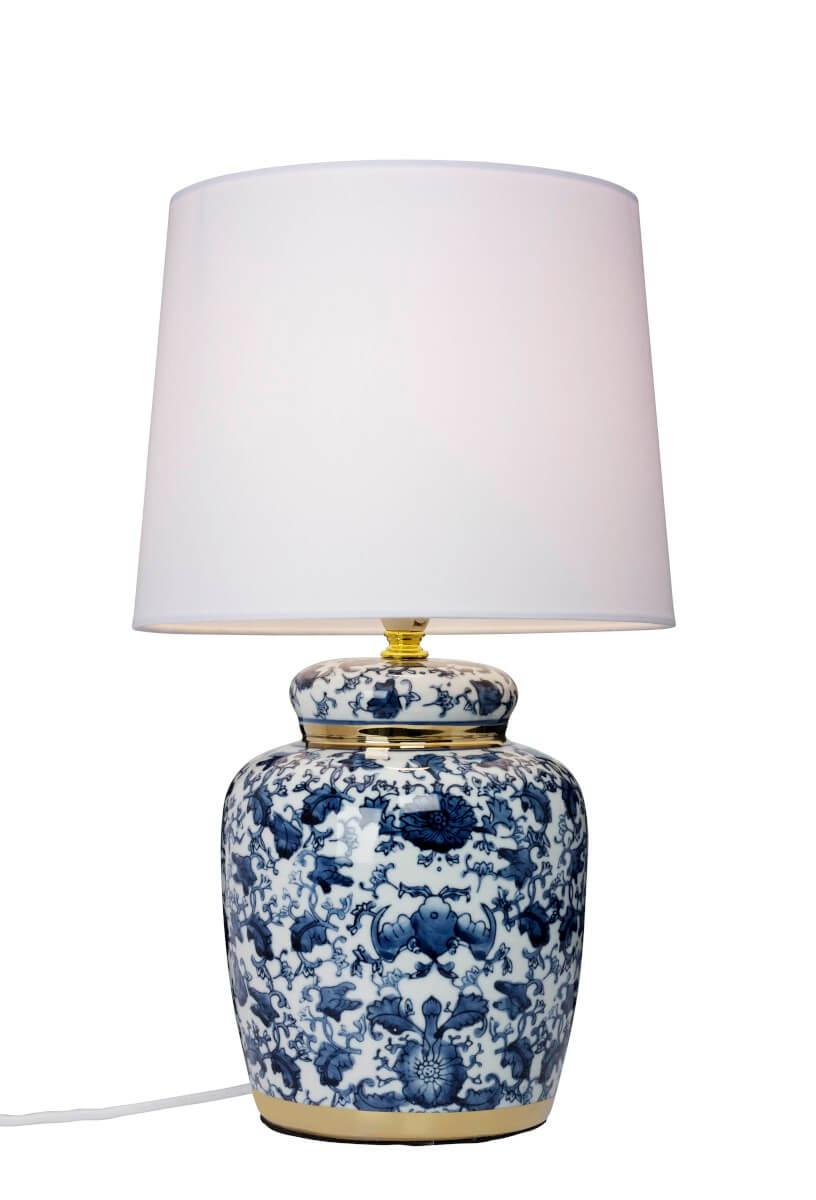 KLASSISK BLÅ Bordslampa 43,5cm BlåVit
