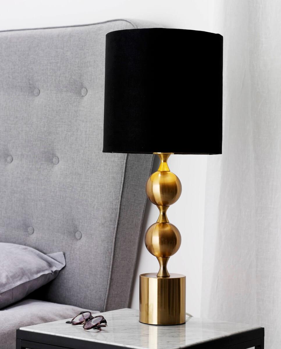 PRAKT Bordslampa 60cm Borstad MässingSvart
