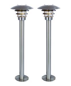 SHINE Pollare 2-Pack 61cm Rostfritt stål 12V IP44