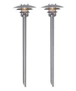 BOLTHI Pollare 2-Pack 45cm Rostfritt stål 12V IP44