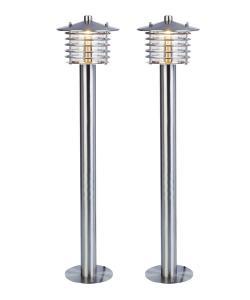 BOLTHI Pollare 2-Pack 60cm Rostfritt stål 12V IP44