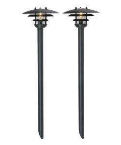 BOLTHI Pollare 2-Pack 45cm Svart 12V IP44