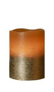 COOPER LED-Blockljus 10cm Brun