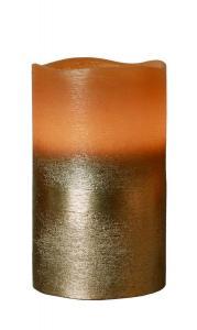 COOPER LED-Blockljus 12,5cm Brun