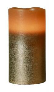 COOPER LED-Blockljus 15cm Brun