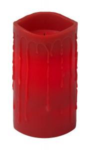 DRIP LED-Blockljus 15cm Röd