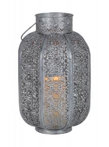 AGADIR Lykta 34cm LED Silver