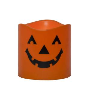 HALLOWEEN LED Blockljus 15cm Orange