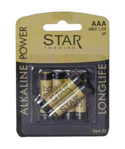 BATTERI 6-Pack AAA 1,5V Power Alkaline